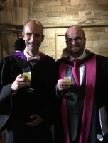 015: With Professor George S. Baillie (my main PhD-supervisor; Dean of Graduate Studies of the College of Medical, Veterinary and Life Sciences) at the University of Glasgow 2017 summer graduation ceremony.