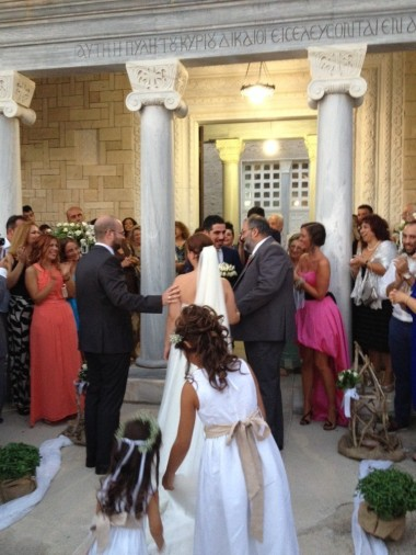 006: At my sister's wedding (2014), escorting the bride along with my father, Mr Christos Zarros.