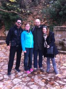009: With my brother-in-law (Mr Vasilis Antonakos), my partner (Dr Christina Elliott) and my sister (Mrs Iro Zarrou-Antonakou) on a family trip at Trikala of Corinthia (2015).