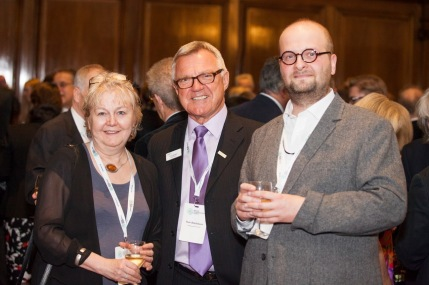 013: At the wine reception, just before the Annual Dinner of the British Pharmacological Society during the Pharmacology 2016 conference, with Prof. Tilli Tansey OBE and Dr Tom Blackburn.