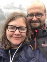 017: With my partner, Dr Christina Elliott, at a fjord cruise from Bergen to Modalen via Mostraumen (2019).